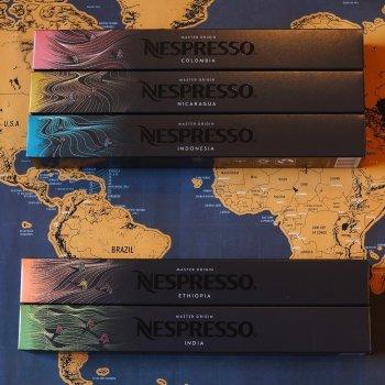 Набор кофе в капсулах Master Origins оригинальные Nespresso 50 капсул (5 тубов по 10 шт.)