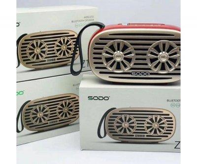 Беспроводная Bluetooth колонка SODO Z19 Black JKR | Оригинал | Гарантия Красный
