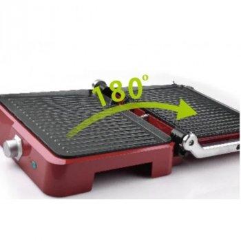Гриль DSP KB1049А с антипригарным покрытием, 1800 Вт с регулировкой температурой Красный GRL11384