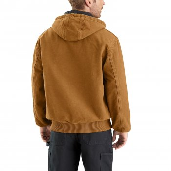 Куртка Carhartt J130 Flannel-Lined Sandstone Active - Insulated, Factory Seconds Dark Brown (11239589)