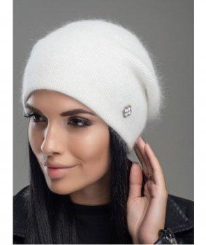 Женская Шапка Leks-Jolie Нарцисс Размер (53-57) Цвет белый (305)