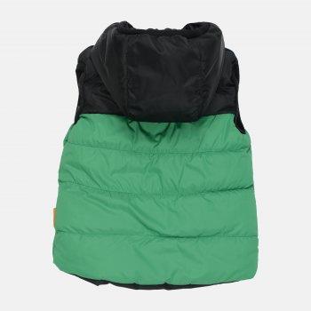 Демісезонний жилет Одягайко 72103 Зелений/Чорний