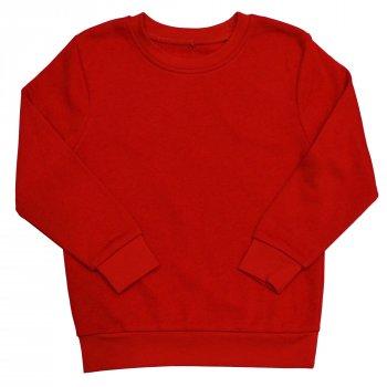 Свитшот для мальчика ( 1 шт ) George красный тёплый на флисе однотонный 105