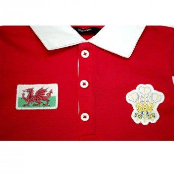 Поло для мальчика ( 1 шт.) George красное с эмблемами с белым воротничком на пуговицах 929