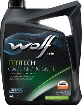 Моторна олива Wolf EcoTech 0W20 SP/RC G6 FE 4 л (1047260)