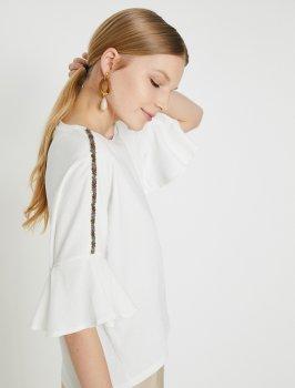 Блузка Koton 9YAK13472EK-001 Off White
