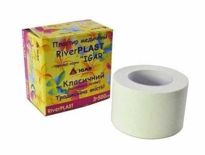 Пластырь медицинский IGAR RiverPlast на тканевой основе (хлопок) 3 см х 500 см