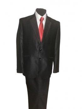 Чоловічий святковий костюм West-Fashion 695 чорний 170