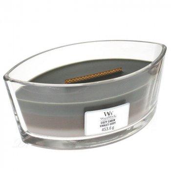Ароматическая свеча Woodwick с трехслойным ароматом Ellipse Trilogy Cosy Cabin 453 г