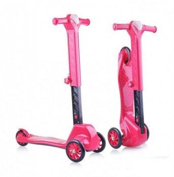 Самокат 3-колісний Doloni рожевий, пластиковий 0153