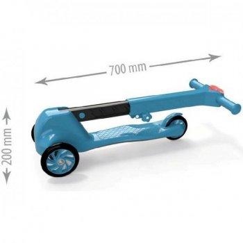 Самокат 3-колісний Doloni блакитний, пластиковий 0153