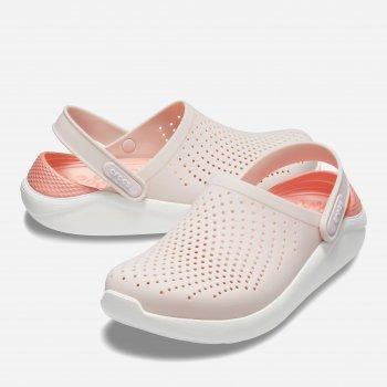 Сабо Crocs Women's LiteRide Clog 204592-6PL Пудра с белым