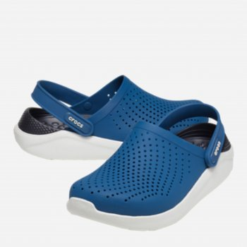 Сабо Crocs Women's LiteRide Clog 204592-4SB Синие с белым