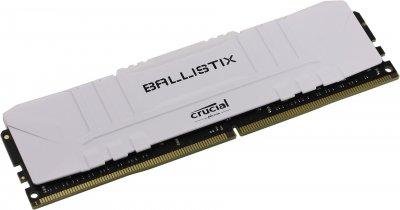 Модуль пам'яті Crucial 8GB DDR4 3200 Ballistix White (BL8G32C16U4W)