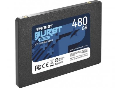 "Накопичувач SSD 480GB Patriot Burst Elite 2.5"" SATAIII TLC (PBE480GS25SSDR)"