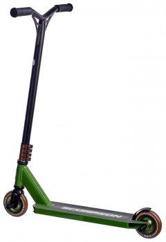 Трюковий самокат Maraton Scorpion Original 2020 трюкової чорний зелений для фрістайлу + захист