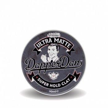 Глина для укладання волосся ультра матова Dapper Dan Ultra Matte Super Hold Clay 50ml