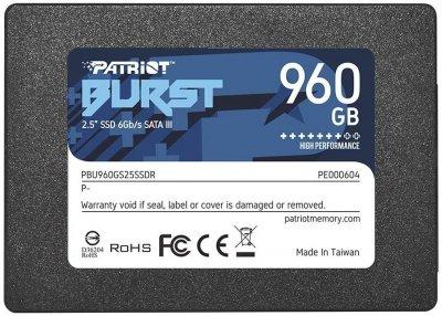 "Накопичувач SSD 960GB Patriot Burst 2.5"" SATAIII TLC (PBU960GS25SSDR)"