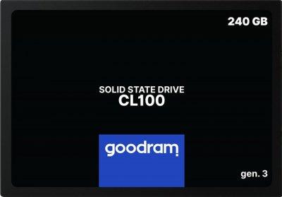 """Накопичувач SSD Goodram CL100 Gen.3 240GB 2.5"""" SATA III 3D NAND TLC (SSDPR-CL100-240-G3)"""