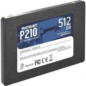 "Накопичувач SSD Patriot P210 512GB 2.5"" SATAIII TLC (P210S512G25)"