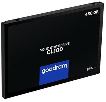 """Накопичувач SSD Goodram CL100 Gen.3 480GB 2.5"""" SATA III 3D NAND TLC (SSDPR-CL100-480-G3)"""