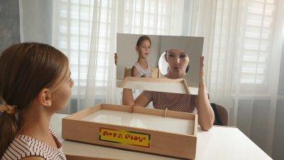 Логопедическое зеркало Art&Play® с отверстием