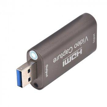 карта видеозахвата HDMI USB 3.0 - для захвата и запись видео с экрана компьютера DSLR, GoPro, Xbox(AC-USB3.0-HDMI)