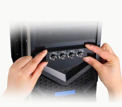 Контролер вентиляторів - реобас для комп'ютерних кулерів з синім підсвічуванням (STW6002)