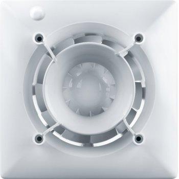 Дизайнерский вентилятор VENTS 125 Эйс DESIGN CONCEPT + Декоративная панель ФП 180х180 Плейн белый (АБС-пластик)