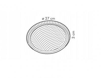 Форма деко для випічки кругла з хвилястими краями Tescoma Delicia 28 см (8595028427011)