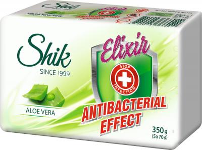 Мыло туалетное твердое Шик Elixir Antibacterial Effect Aloe vera 5 шт х 70 г