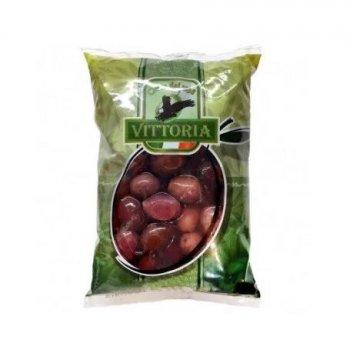 Оливки черные VITTORIA Nere in Salamoia, ПАКЕТ, 500 нетто, 850г масса