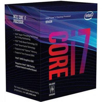 Процессор Intel Core i7 8700 3.2GHz (12MB, Coffee Lake, 65W, S1151) Box (BX80684I78700)