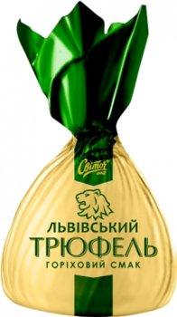 Упаковка конфет Світоч Львовский трюфель вкус ореха 2 кг (7613036437189)