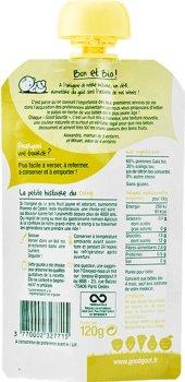 Пюре органічне Good Gout Яблуко, Айва 120 г (3770002327715)