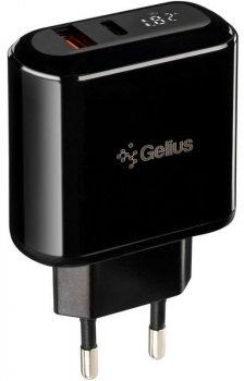 Мережевий зарядний пристрій Gelius Pro Zion PPS QC 3.0 PD 2.0 18 W USB 3 А + USB Type-C 3 A Black (2099900823060)