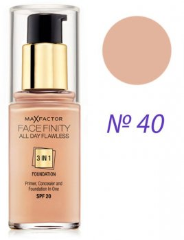 Тональный крем Max Factor Facefinity All day flawless 3in1 Foundation №40 Light Ivory 30 мл (5410076971350)