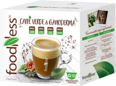 Капсульный напиток FoodNess Dolce Gusto Зеленый кофе с ганодермой (гриб Рейши) 10 капсул х 14 г (8031848001746)
