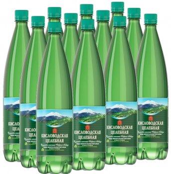 Упаковка минеральной воды Нарсан Кисловодская целебная газированная 1 л х 12 бутылок (4601320000013)