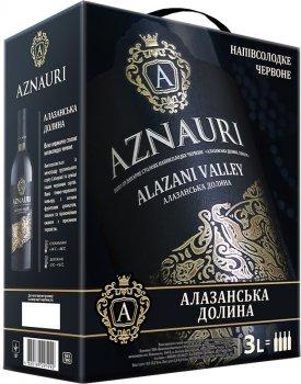Вино Aznauri Алазанська долина червоне напівсолодке 3 л 9-13% (4820189291992)