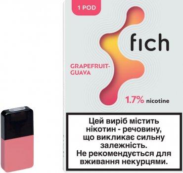 Картридж для POD-систем Fich Pods Grapefruit-Guava 1.7% 18.87 мг 0.8 мл (Грейпфрут + Гуаява) (6971575731689)
