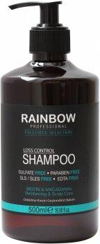 Шампунь без сульфатів і парабенів Rainbow Professional Exclusive Hair Макадамія + біотин проти випадіння волосся 500 мл (73348) (8697426733487)