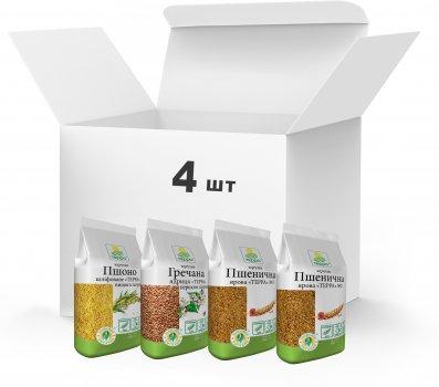 Набор круп Терра №11 Крупа пшеничная, Крупа гречневая, Крупа Пшено 3.1 кг (4820015738561)