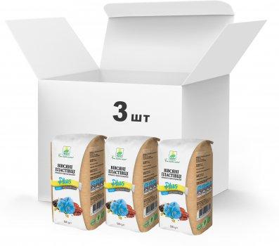 Набір Терра №17 Пластівці вівсяні швидкого приготування + льон і насіння чіа 500 г x 3 шт. (4820015738974)