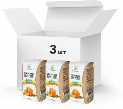 Набір Терра №18 Пластівці спельти швидкого приготування + гарбузове насіння і клітковина 500 г x 3 шт. (4820015738967)