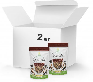 Набір Гранола Терра №5 з мигдальними пластівцями, фундуком і темним шоколадом 2 x 250 г (4820015738837)