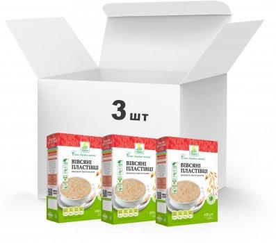 Упаковка Пластівці вівсяні Терра швидкого приготування 3 x 0.6 кг (4820015739414)