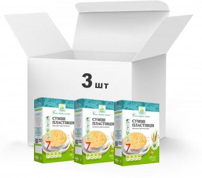 Упаковка Суміш пластівців Терра 7 видів швидкого приготування 3 x 0.6 кг (4820015739377)