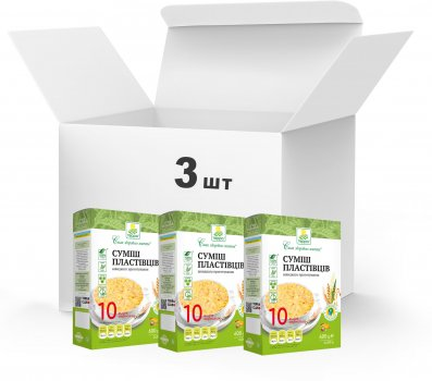 Упаковка Суміш пластівців Терра 10 видів швидкого приготування 3 x 0.6 кг (4820015739360)