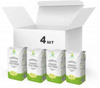 Упаковка Пластівці ячмінні різані Терра швидкого приготування 4 x 0.5 кг (4820015739346)